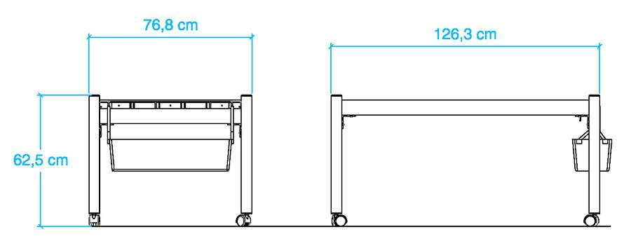 La tavola idroponica MiniCamp può essere installata in spazi ridotti.